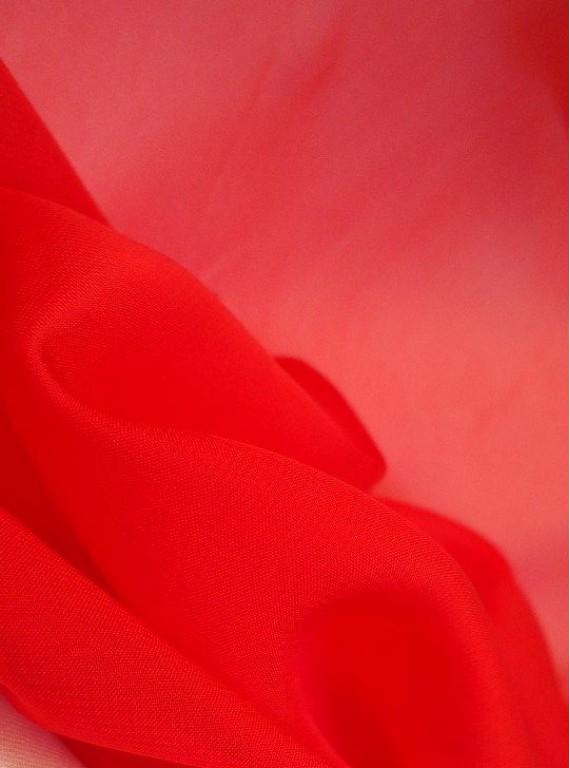Шифон красный (легкий)