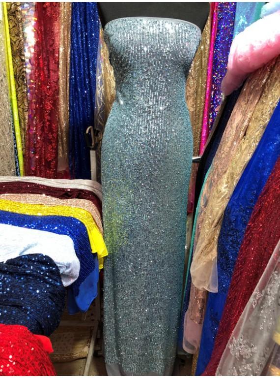 Пайетка на вечерние платья, ширина 1,3 м №1