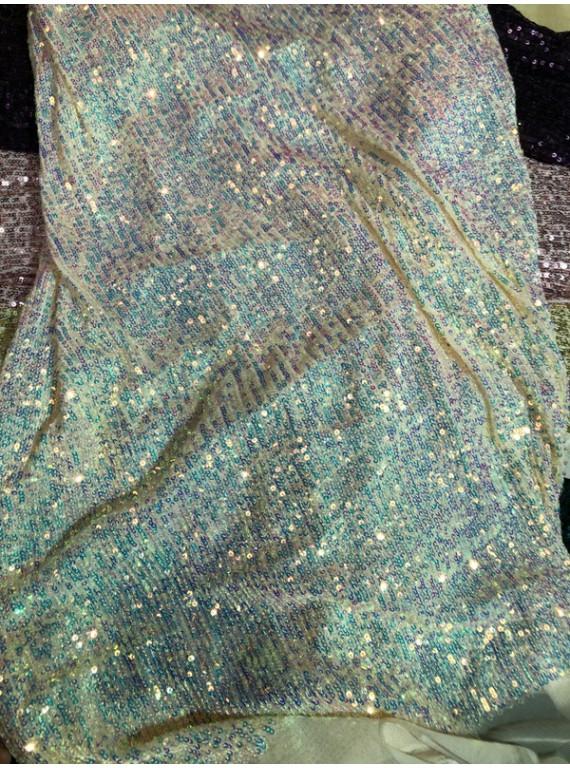 Пайетка на вечерние платья, ширина 1,3 м №18