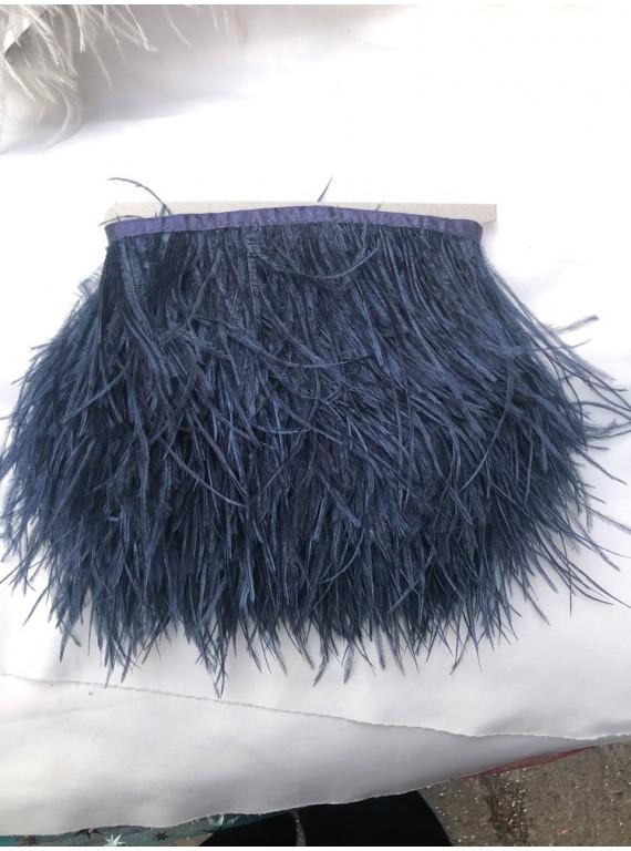Перья страуса на тесьме, длина пера 13-17 см №20
