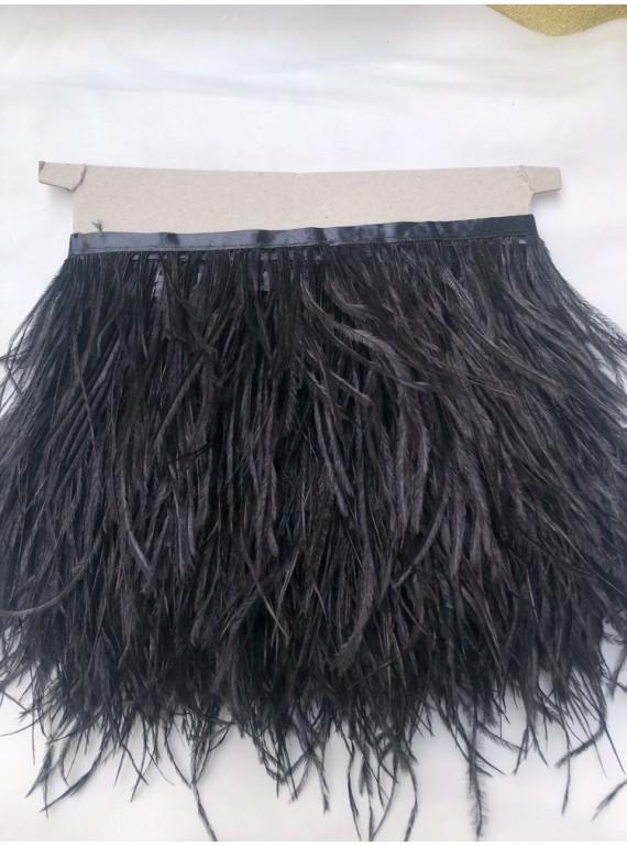 Перья страуса на тесьме, длина пера 13-17 см №25