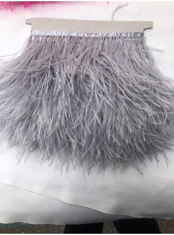 Перья страуса на тесьме, длина пера 13-17 см №10
