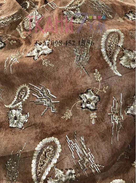 Ткань органза жаккард, ширина 1,5 м №3