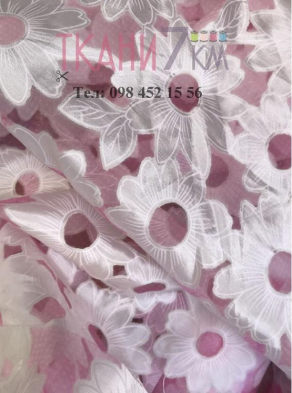 Ткань органза с рисунком, ширина 1,5 м № 2