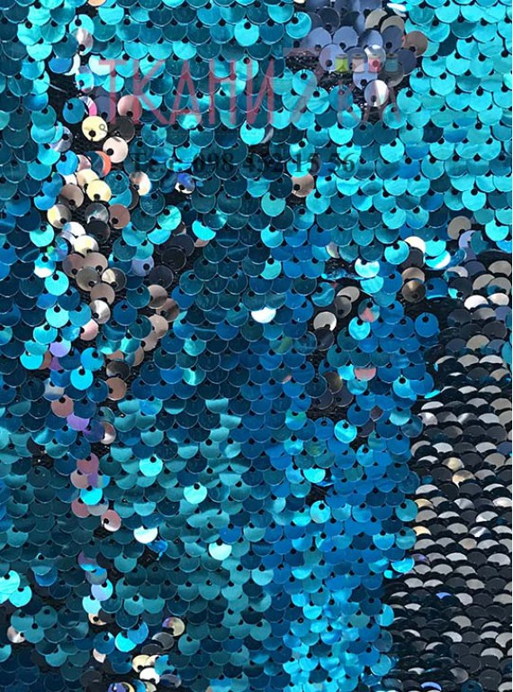 Пайетка двухцветная, ширина 1,4 м №11