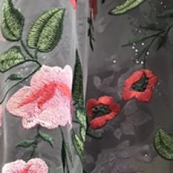 Сетка расшитая цветами